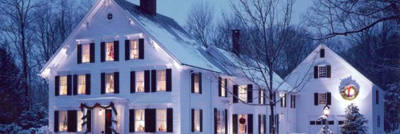 Camden Maine Stay in Winter at Night