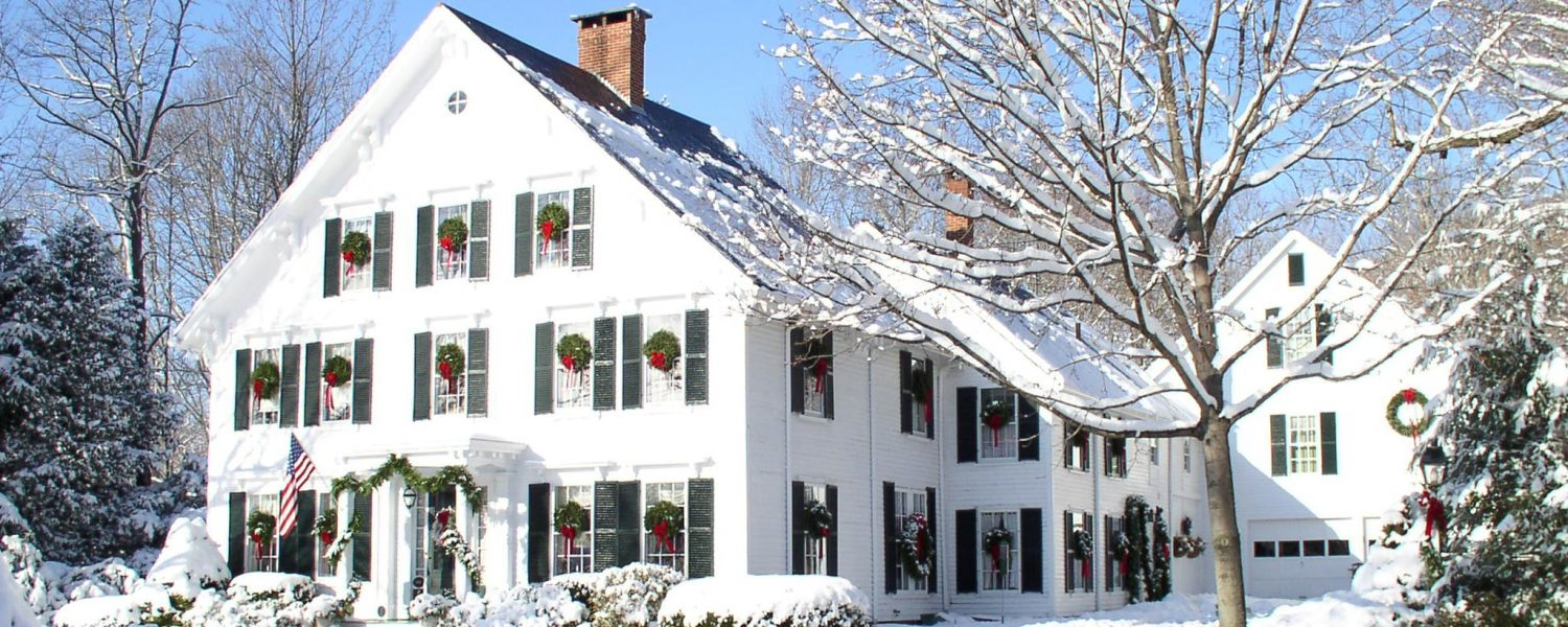 Camden Maine Stay front view in winter