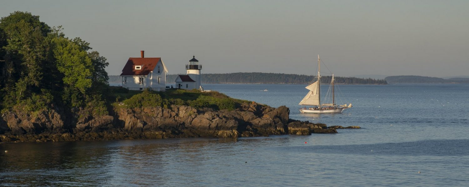 Ocean view with sailboat